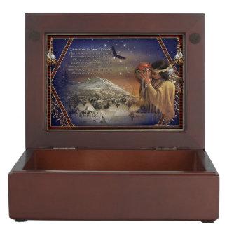Cherokee Blessing Wooden Trinket Box
