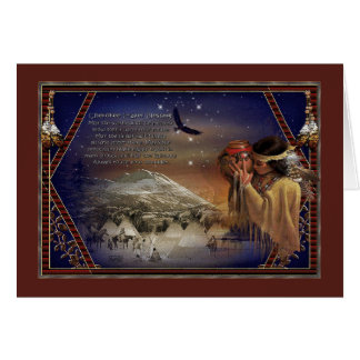Cherokee Blessings Greeting Card Native American