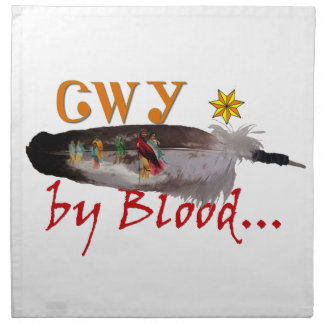 Cherokee by Blood Napkin
