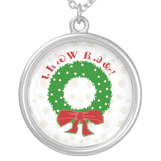 Cherokee Christmas Wreath Necklace
