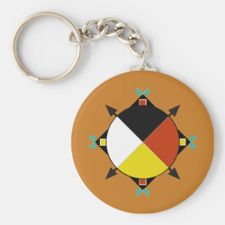 Cherokee Four Directions Basic Round Button Keychain