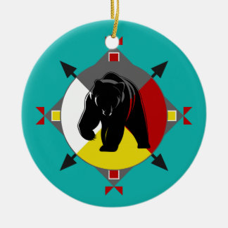 Cherokee Four Directions Bear Ornament