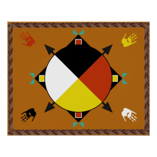 Cherokee Four Directions Poster