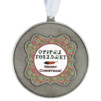 Cherokee Holiday Greetings Scalloped Ornament