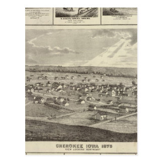 Cherokee, Iowa, 1875 businesses in Centerville Postcard