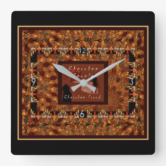 Cherokee Nation Square Wall Clock