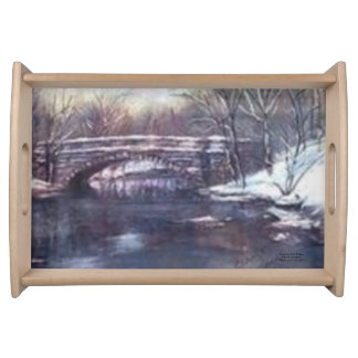 """CHEROKEE PARK BRIDGE SERVING TRAY"" SERVING TRAYS"