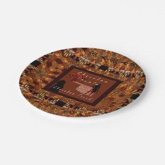 Cherokee People Paper Plate