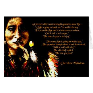 Cherokee Wisdom Card