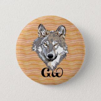 Cherokee Wolf Lover Button