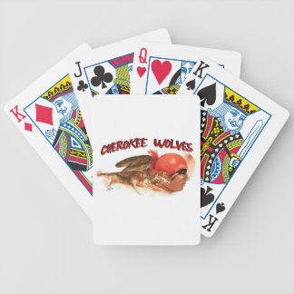 Cherokee Wolves Bicycle Playing Cards