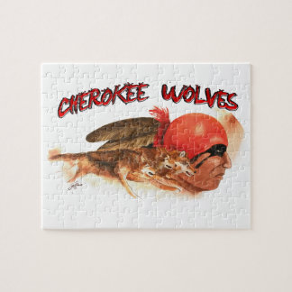 Cherokee Wolves Jigsaw Puzzle