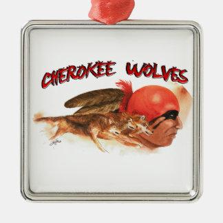 Cherokee Wolves Metal Ornament