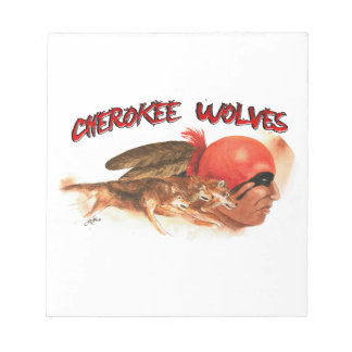 Cherokee Wolves Notepad