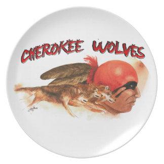 Cherokee Wolves Plate
