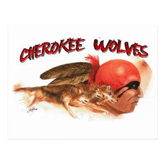 Cherokee Wolves Postcard