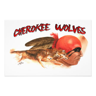 Cherokee Wolves Stationery