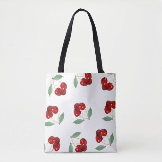 Cherries All Over Print Tote Bag