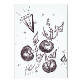 Cherries and Diamonds Invitation Card