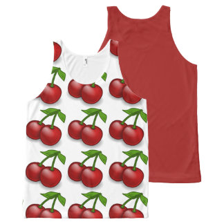 Cherries Anyone All-Over-Print Tank Top