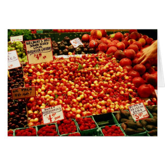 Cherries at Pike Place Market Greeting Card