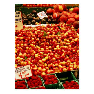 Cherries at Pike Place Market Postcard