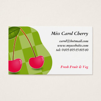 Cherries Business Card