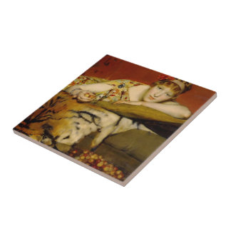 Cherries by Lawrence Alma-Tadema Tile