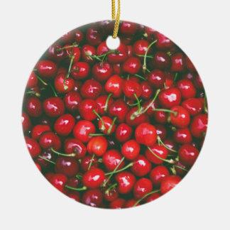 Cherries... Ceramic Ornament