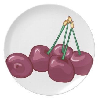 Cherries Dinner Plates