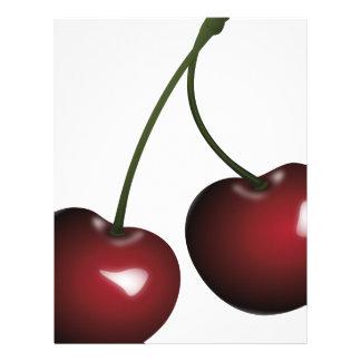 Cherries Drawing Letterhead