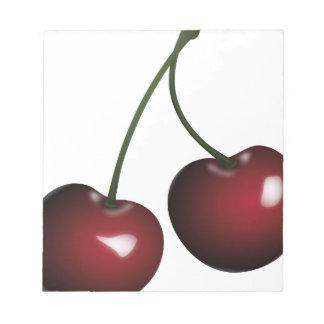 Cherries Drawing Notepad