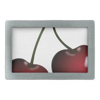 Cherries Drawing Rectangular Belt Buckle