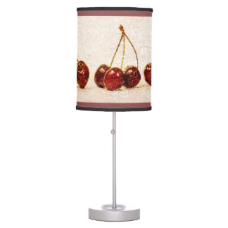 Cherries From One To Four Table Lamp
