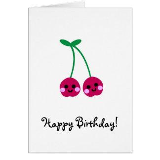 cherries, Happy Birthday! Card