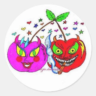 Cherries in Love Classic Round Sticker