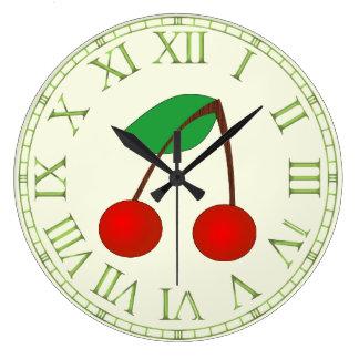 Cherries Large Clock