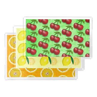 Cherries, Lemons and Oranges Food Serving Trays