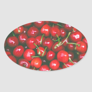 Cherries... Oval Sticker