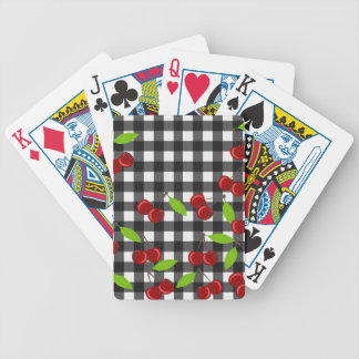 Cherries pattern bicycle playing cards