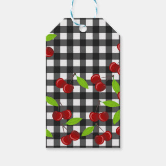 Cherries pattern pack of gift tags