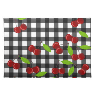 Cherries pattern placemat