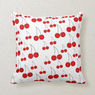 Cherries Pattern. Throw Pillow