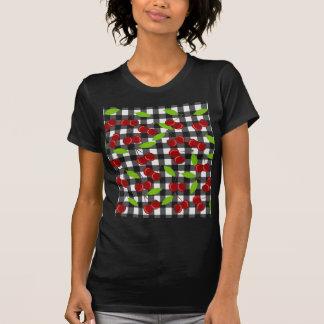 Cherries plaid pattern T-Shirt
