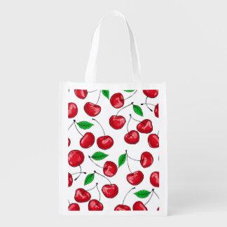 Cherries Reusable Grocery Bag