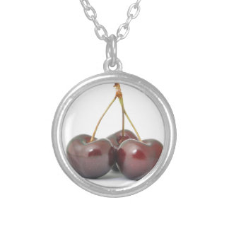 Cherries Silver Plated Necklace
