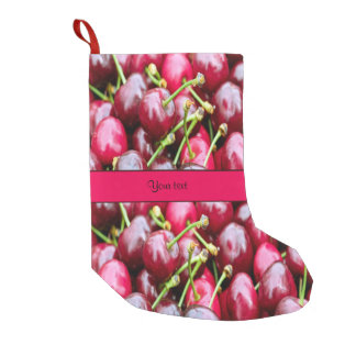Cherries Small Christmas Stocking