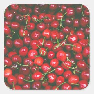 Cherries... Square Sticker