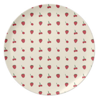 Cherries & Strawberries Pattern Dinner Plate