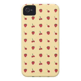 Cherries & Strawberries Pattern iPhone 4 Cases